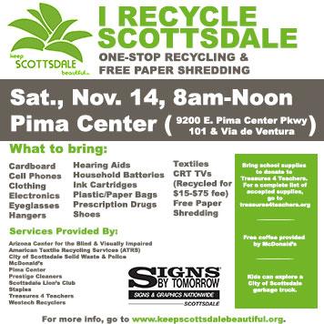 Prestige Cleaners Recycles Keep Scottsdale Beautiful