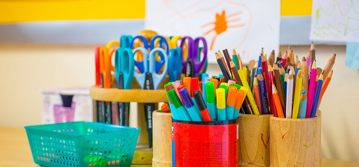 Organizing your at-home learning space